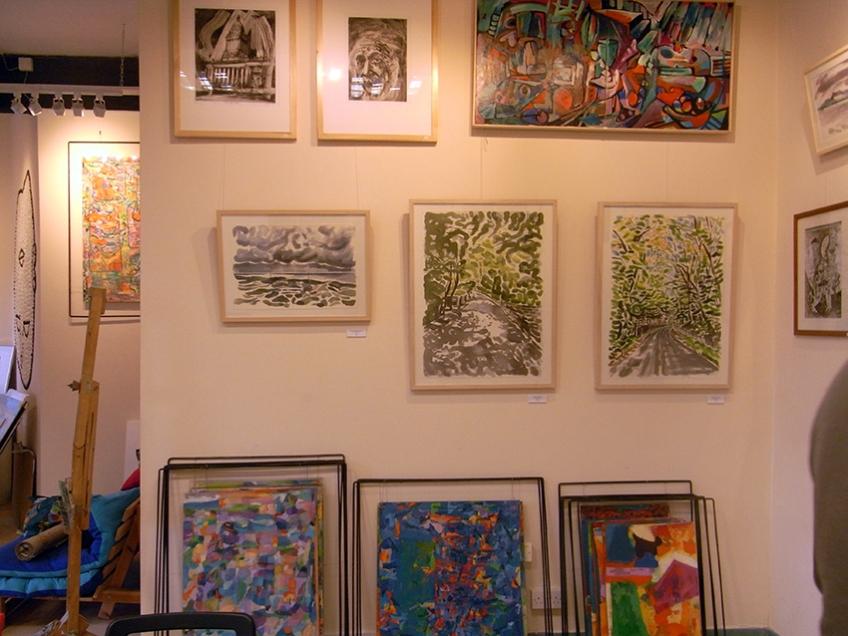 January 2014 - Bono Art Gallery - work on display by Shane Green, Jo Dunn, Moff Skellington, Roberto Bono