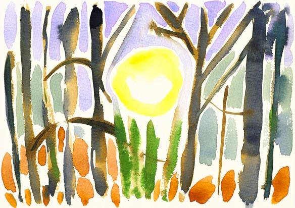 Spring Equinox - watercolour sketch