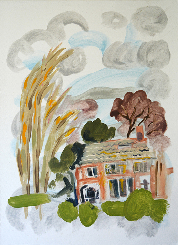 The Last House - painting by Jo Dunn, 2016