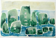 Standing stones at sea, 1985