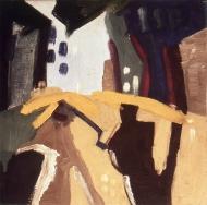 Umbrellas in the street, 1982
