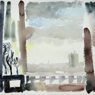 View from a Harehills window, 1992