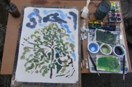 Painting one of the trees
