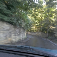 Gledhow Wood Road, from the driver's perspective