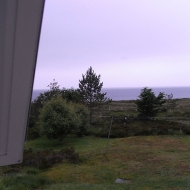View from the studio window, Opinan