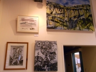 January 2014 - Bono Art Gallery - work on display by Jo Dunn, Shane Green, Moff Skellington