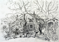 Thorpe House, Luddendenfoot - pencil drawing by Jo Dunn, 2015