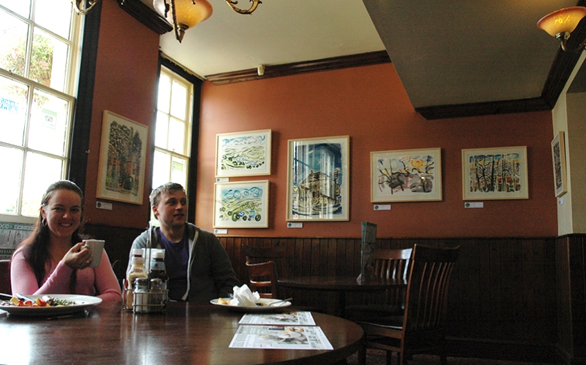 Fine meals and fine art at the Three Hulats, LS7