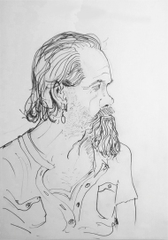 Pet - pencil drawing by Jo Dunn, 2016