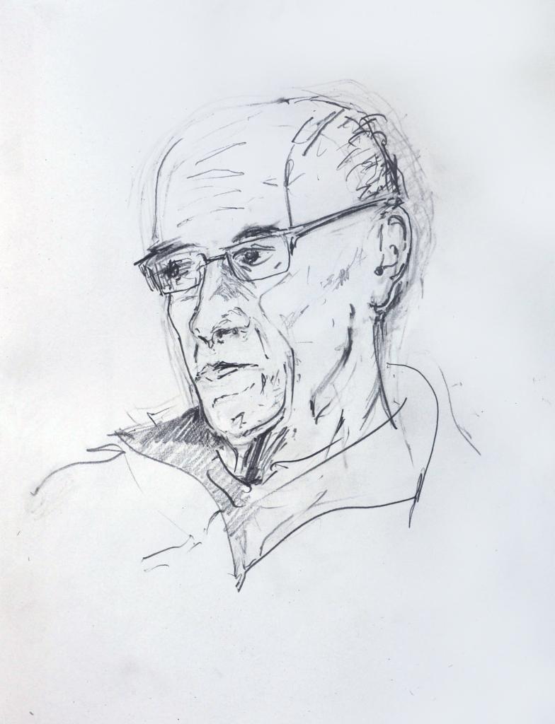 Jon, pencil drawing by Jo Dunn, 2016