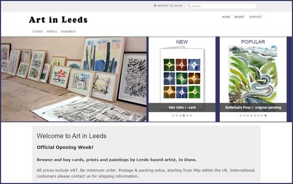 Art in Leeds online shop sells art cards, fine art giclee prints and original paintings by Leeds-based artist Jo Dunn