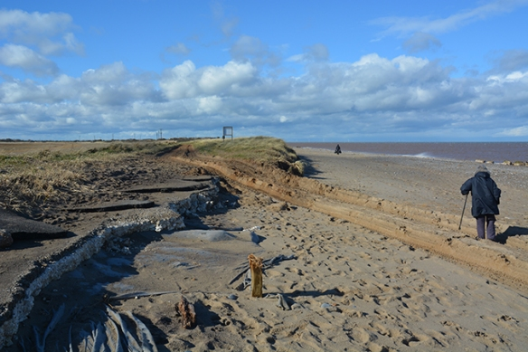 Where the road has washed away, Spurn Peninsular