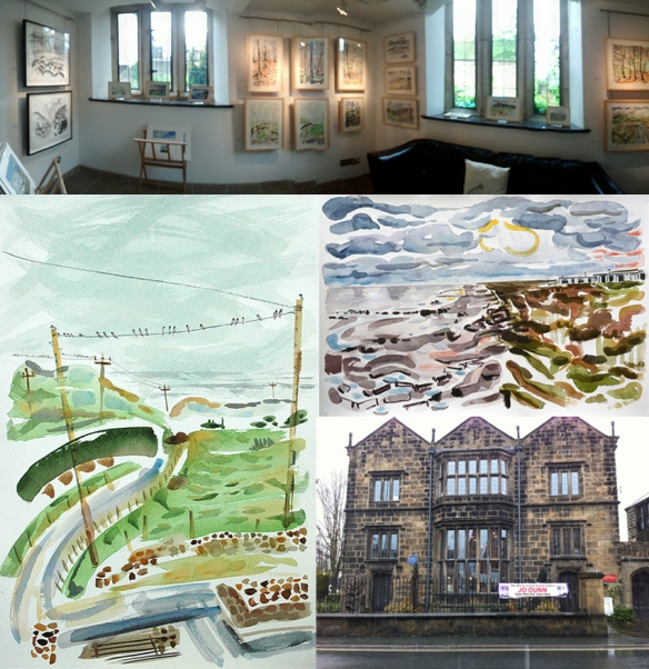Current exhibition in Otley by artist Jo Dunn - 25 Paintings - The Old Grammar School, Manor Square, Otley LS21 3AY