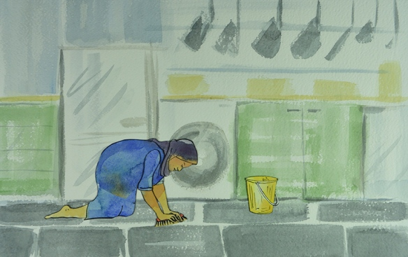 Still from They Call Us Maids: The Domestic Workers' Story, a film by Leeds Animation Workshop, 2015