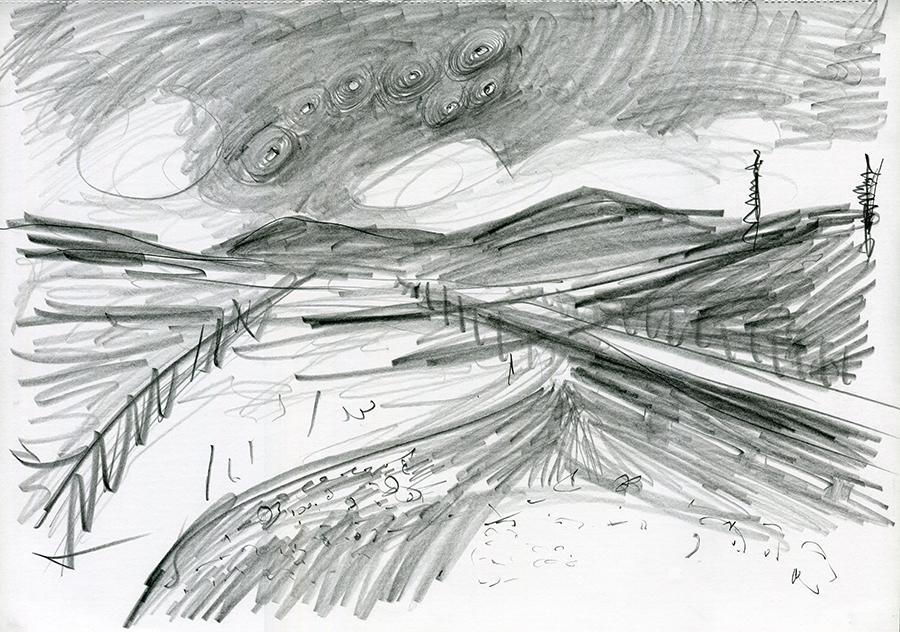 A82 14mls N Tyndrum, pencil drawing