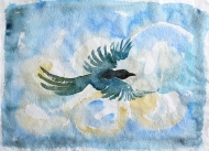 Bird I - watercolour painting by Jo Dunn, 2018