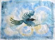 Bird I - watercolour painting by Jo Dunn, 2018