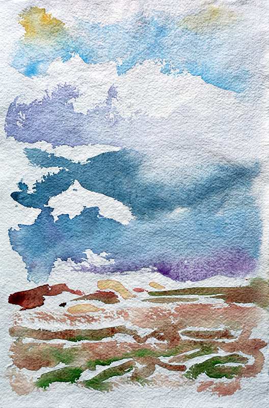 Tiree I - watercolour by Jo Dunn 2018