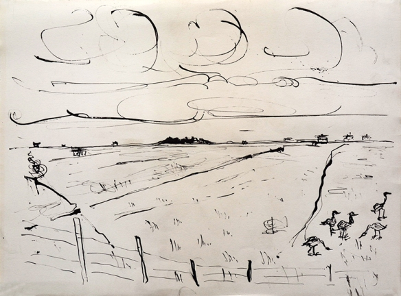 Tiree III, drawing by Jo Dunn