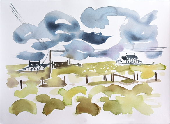 Tiree VI - watercolour painting by Jo Dunn