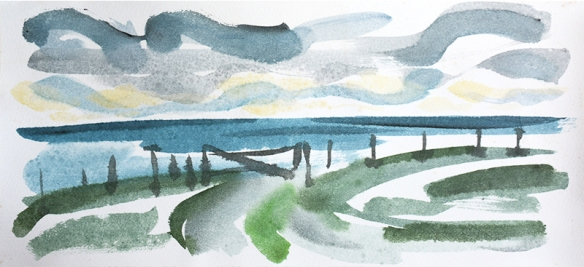 Isle of Tiree VII - watercolour by Jo Dunn