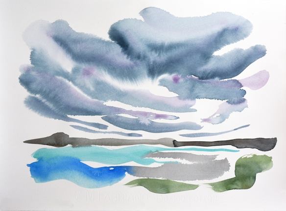 Isle of Tiree X - watercolour by Jo Dunn