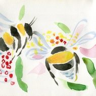 Bumble Bees III - painting by Jo Dunn