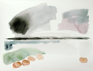 Bad Mood at Red Point, watercolour painting by Jo Dunn 2013