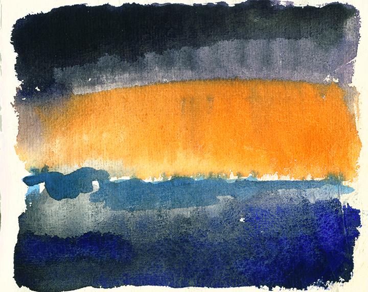Rainstorm Over Headingley, watercolour painting by Jo Dunn
