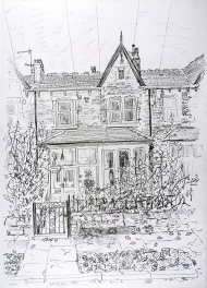 House Portrait #17, pencil drawing by Jo Dunn 2019