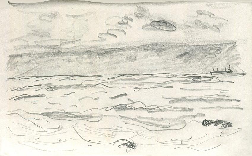 Jo Dunn pencil drawing Whitley Bay I