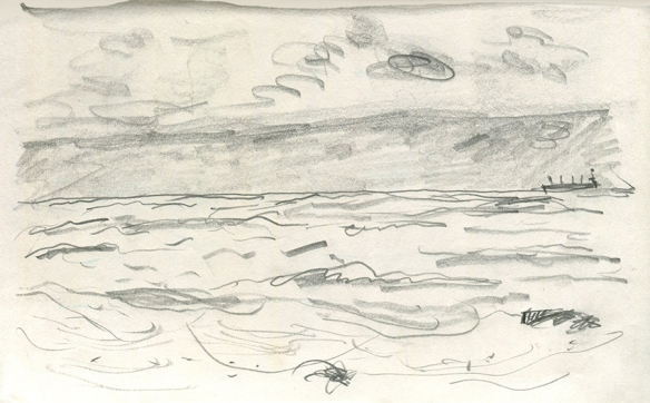 Jo Dunn pencil drawing Whitley Bay I