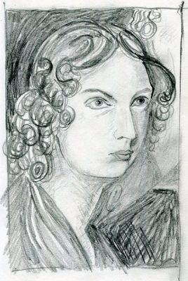 Anne Bronte - pencil drawing by Jo Dunn 2020