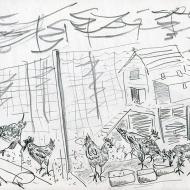Horticap II - pencil drawing by Jo Dunn 2019