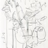 Karen Sharp Quartet II, 5-12-2019 - pencil drawing by Jo Dunn 2019