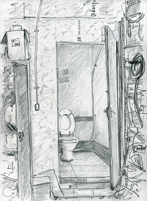 World Toilet Day 2019 - pencil drawing by Jo Dunn 2019