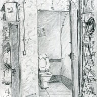 World Toilet Day, pencil drawing by Jo Dunn 2019