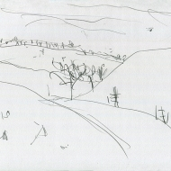 Yorkshire Wolds III - pencil drawing by Jo Dunn 2020