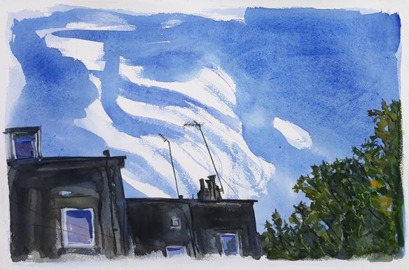 Jo Dunn - painting of Pasture Parade, July 2020