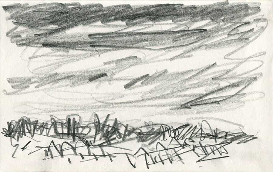 View from the Park drawing iii by Jo Dunn 2020
