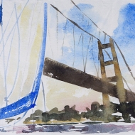 Sailing Under the Humber Bridge I