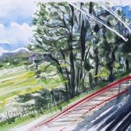 View from the Train Window II (near Basingstoke)
